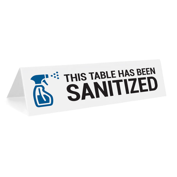 This Table Has Been Sanitized Tabletop Sign