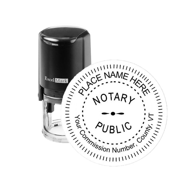Vermont Notary Stamp - Round Self-Inking