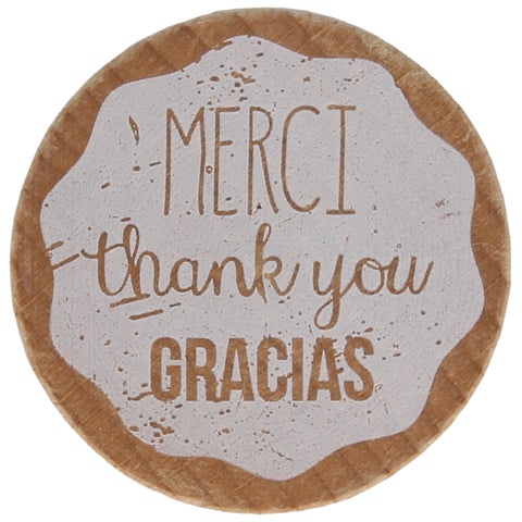 Merci Thank You Gracias Stamp