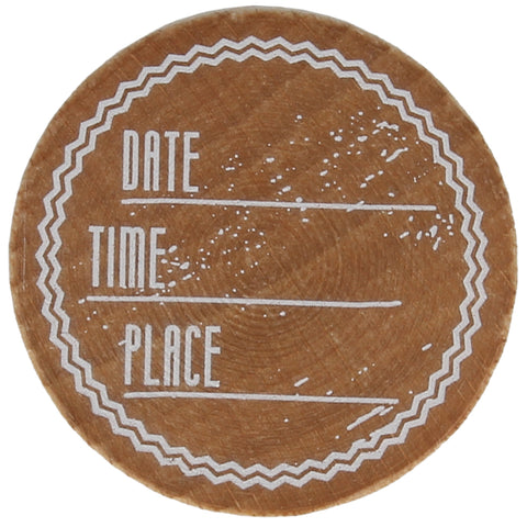 DATE TIME PLACE Stamp
