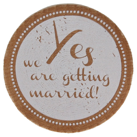 Yes We Are Getting Married! Stamp