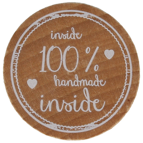 Inside 100% Handmade Stamp