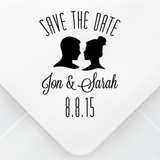 Save The Date Silhouette Stamp