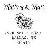 Vintage Floral Address Stamp