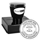 Round Pre-Inked Washington Notary Stamp