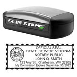 Slim West Virginia Notary Stamp