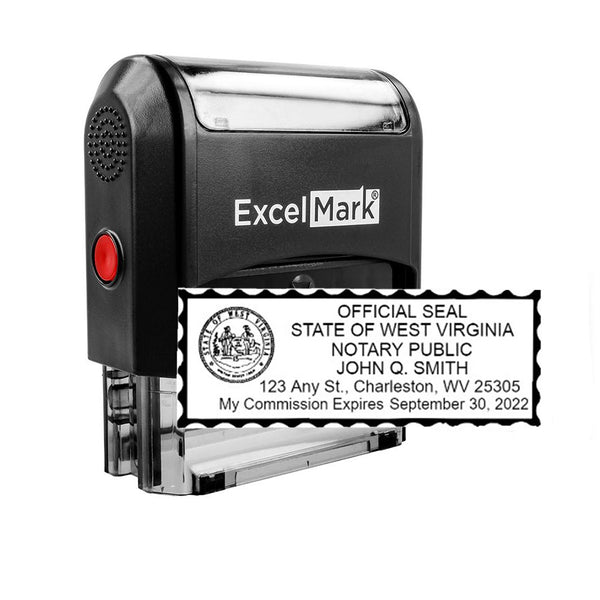 West Virginia Notary Stamp - Self-Inking