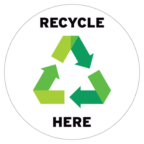 Recycle Here Floor Decal