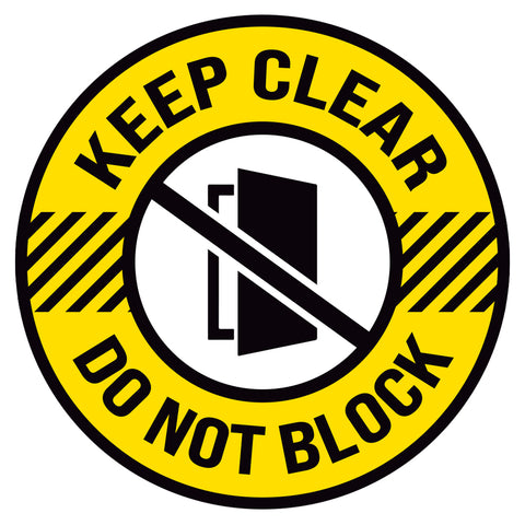 Keep Clear Do Not Block Door Floor Decal