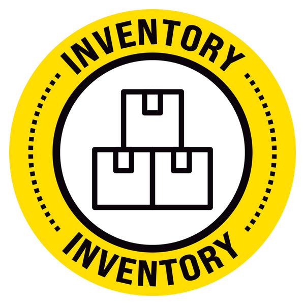 Yellow Inventory Floor Decal