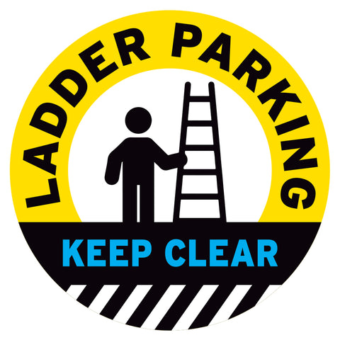 Ladder Parking Keep Clear Floor Decal