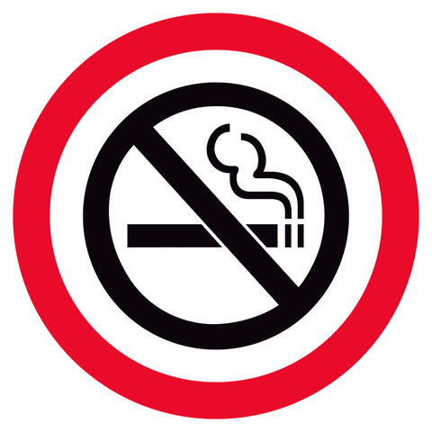 No Smoking Symbol Floor Decal