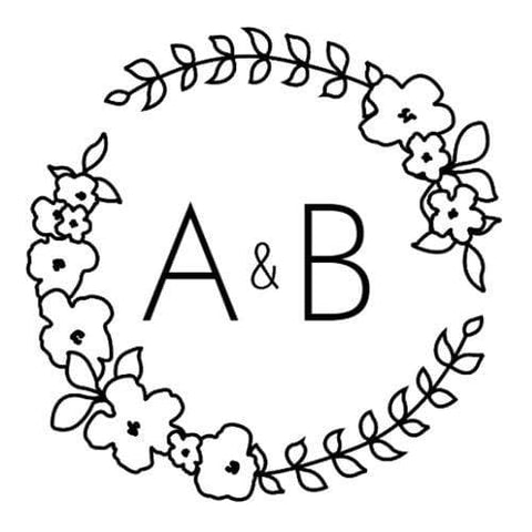 Address Embosser Floral Wreath Monogram Embosser