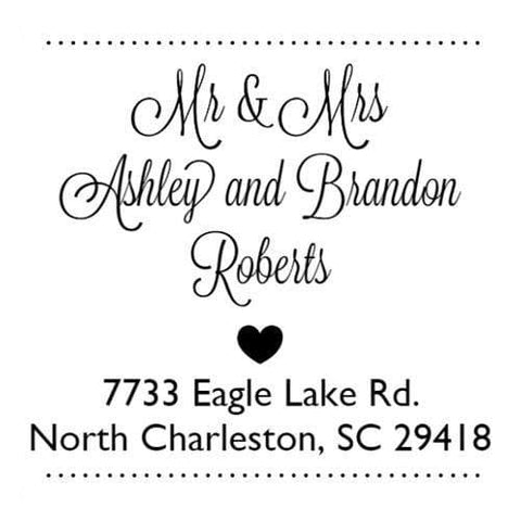 Address Embosser Mr and Mrs Heart Address Embosser