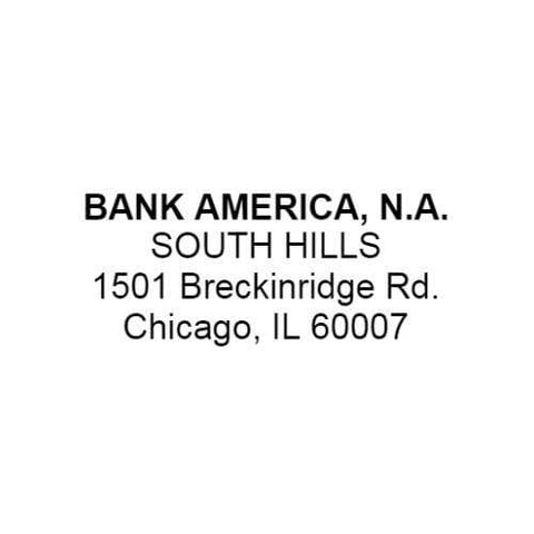 Bank Deposit Stamps Bank Address Stamp