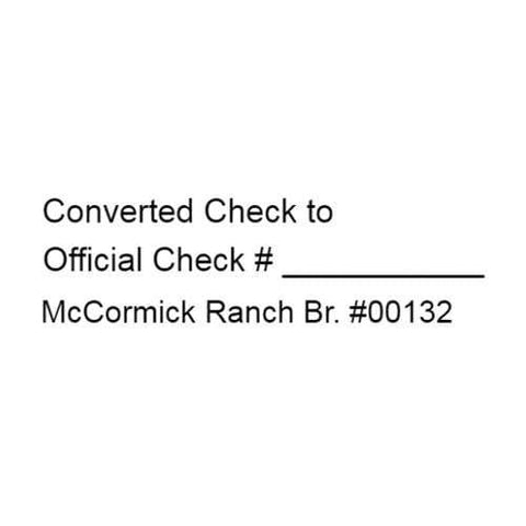 Bank Deposit Stamps Converted Check Stamp