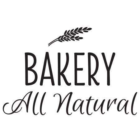 Craft Stamp All Natural Bakery Stamp