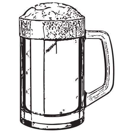 Craft Stamp Beer Mug Stamp