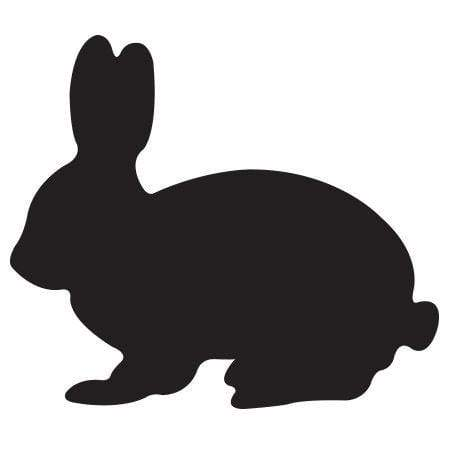Craft Stamp Bunny Silhouette Stamp