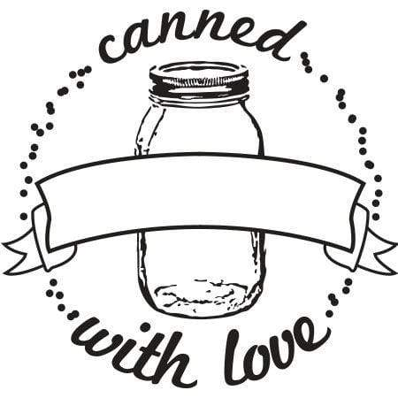 Craft Stamp Canned With Love Stamp