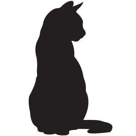 Craft Stamp Cat Silhouette Stamp