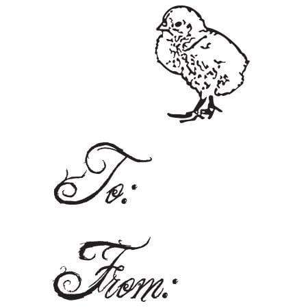 Craft Stamp Chick Gift Tag Stamp