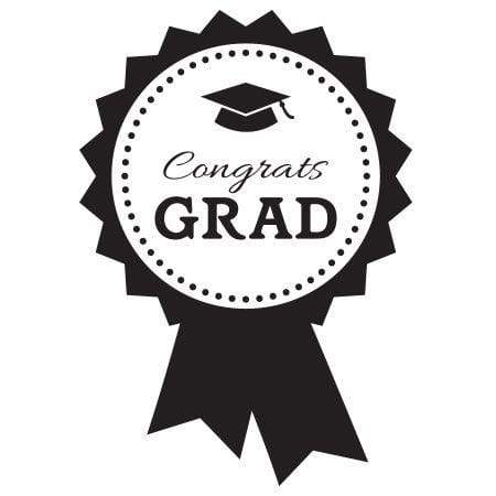 Craft Stamp Congrats Grad Ribbon Stamp