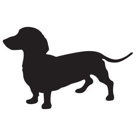 Craft Stamp Dachshund Silhouette Stamp