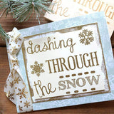Craft Stamp Dashing Through Snow Stamp