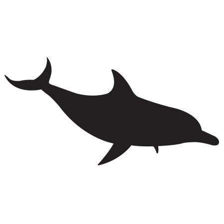 Craft Stamp Dolphin Silhouette Stamp