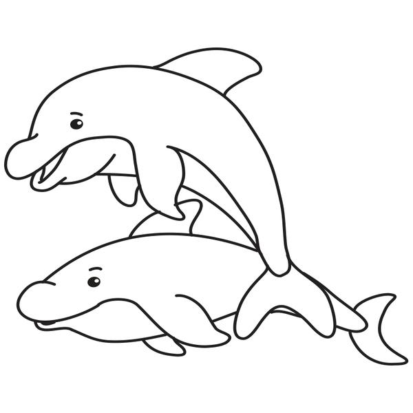 Craft Stamp Dolphins Stamp