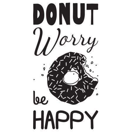 Craft Stamp Donut Worry Be Happy Stamp