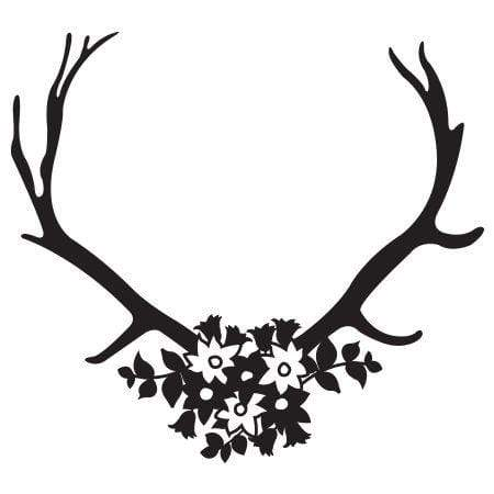 Craft Stamp Floral Antlers Stamp