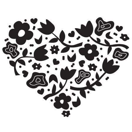 Craft Stamp Floral Heart Stamp