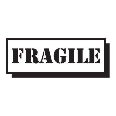 Craft Stamp Fragile Block Stamp
