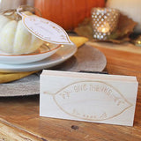 Craft Stamp Give Thanks Placecard Stamp