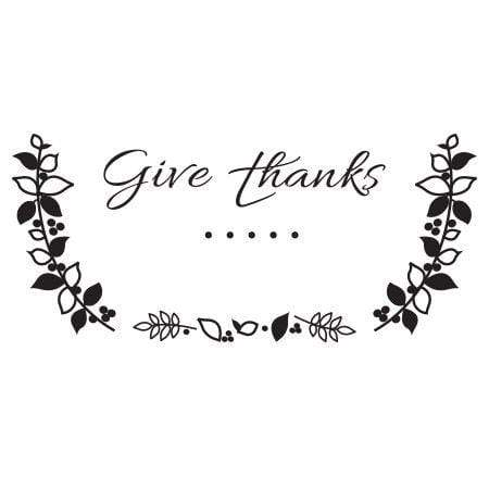 Craft Stamp Give Thanks Stamp