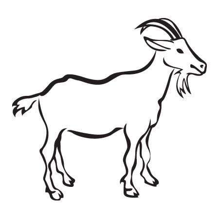 Craft Stamp Goat Stamp