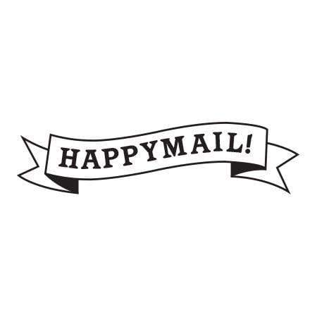 Craft Stamp Happy Mail Banner Stamp