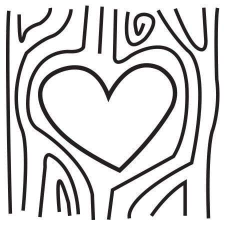 Craft Stamp Heart Carved Tree Stamp
