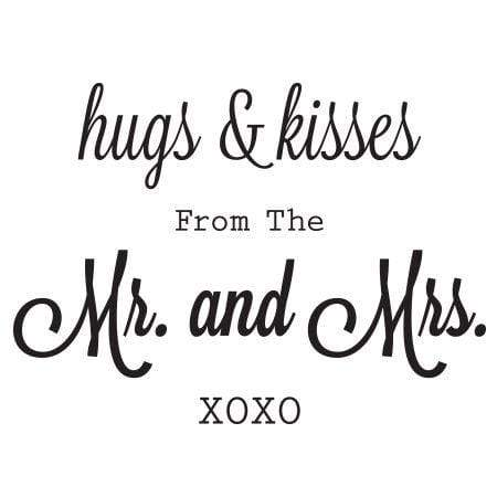 Craft Stamp Hugs & Kisses Stamp