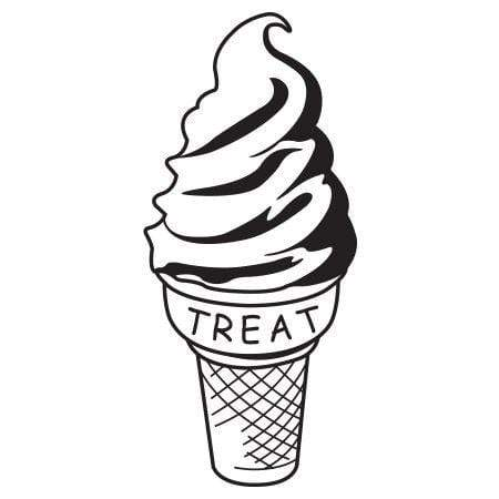 Craft Stamp Ice Cream Treat Stamp