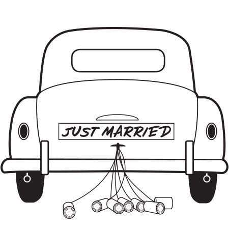 Craft Stamp Just Married Car Stamp