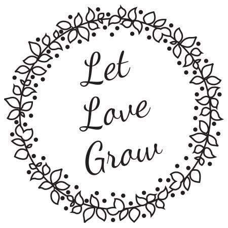 Craft Stamp Let Love Grow Berry Wreath Stamp