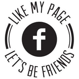 Craft Stamp Let's Be Friends Facebook Stamp