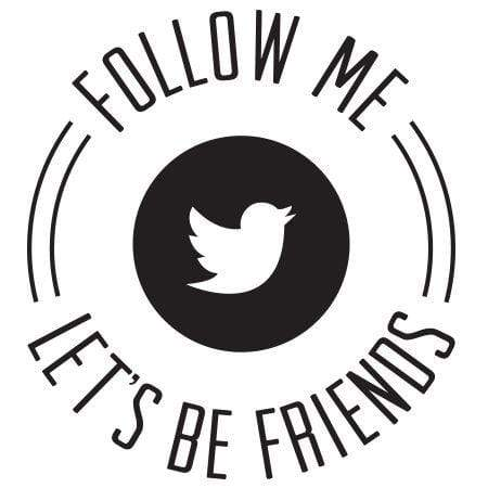 Craft Stamp Let's Be Friends Twitter Stamp