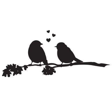 Craft Stamp Love Birds Stamp