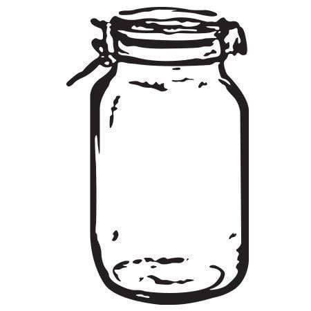 Craft Stamp Mason Jar 2 Stamp