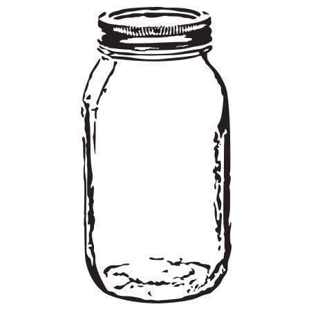 Craft Stamp Mason Jar Stamp