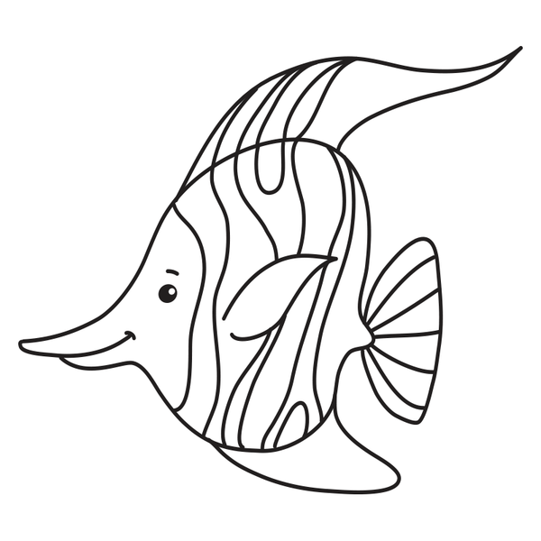 Craft Stamp Moorish Idol Fish Stamp